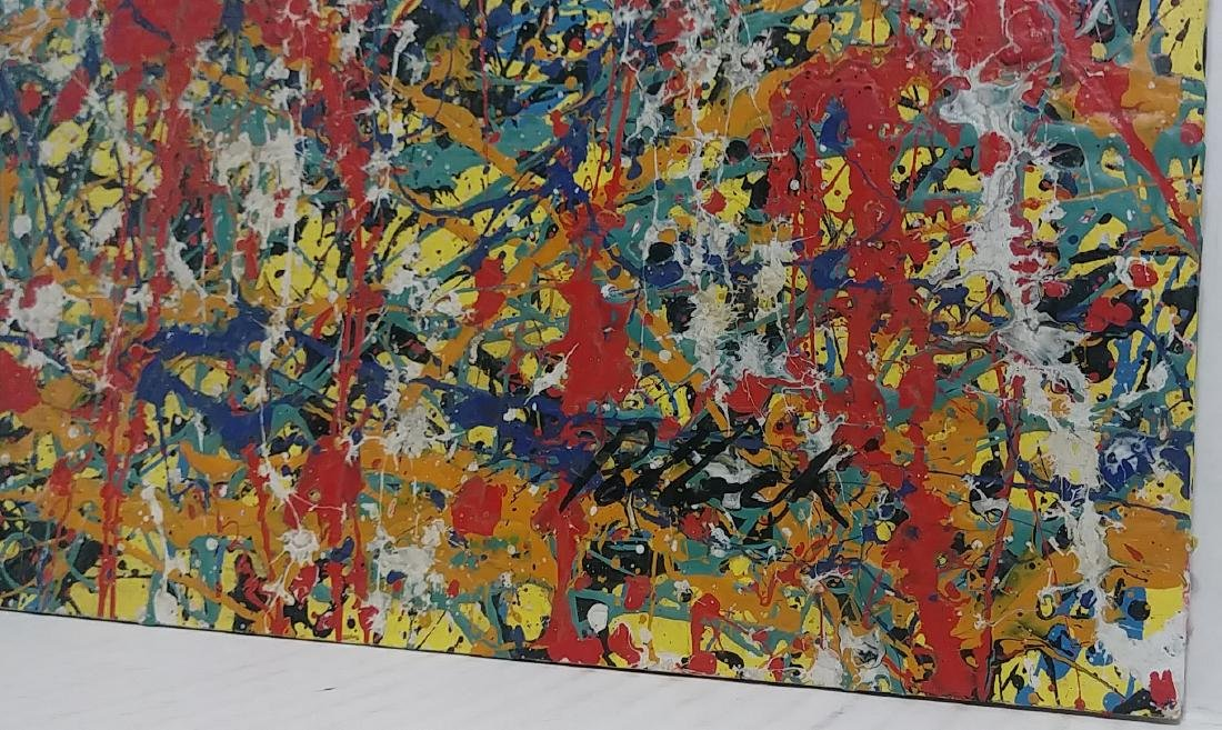 Pollock Signed Untitled (151) Abstract Painting - 2