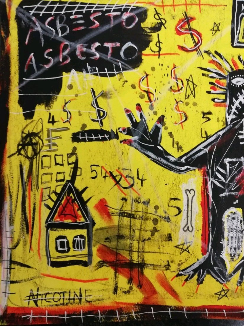 Jean-Michel Basquiat Large Painting Drawing (Untitled). - 2