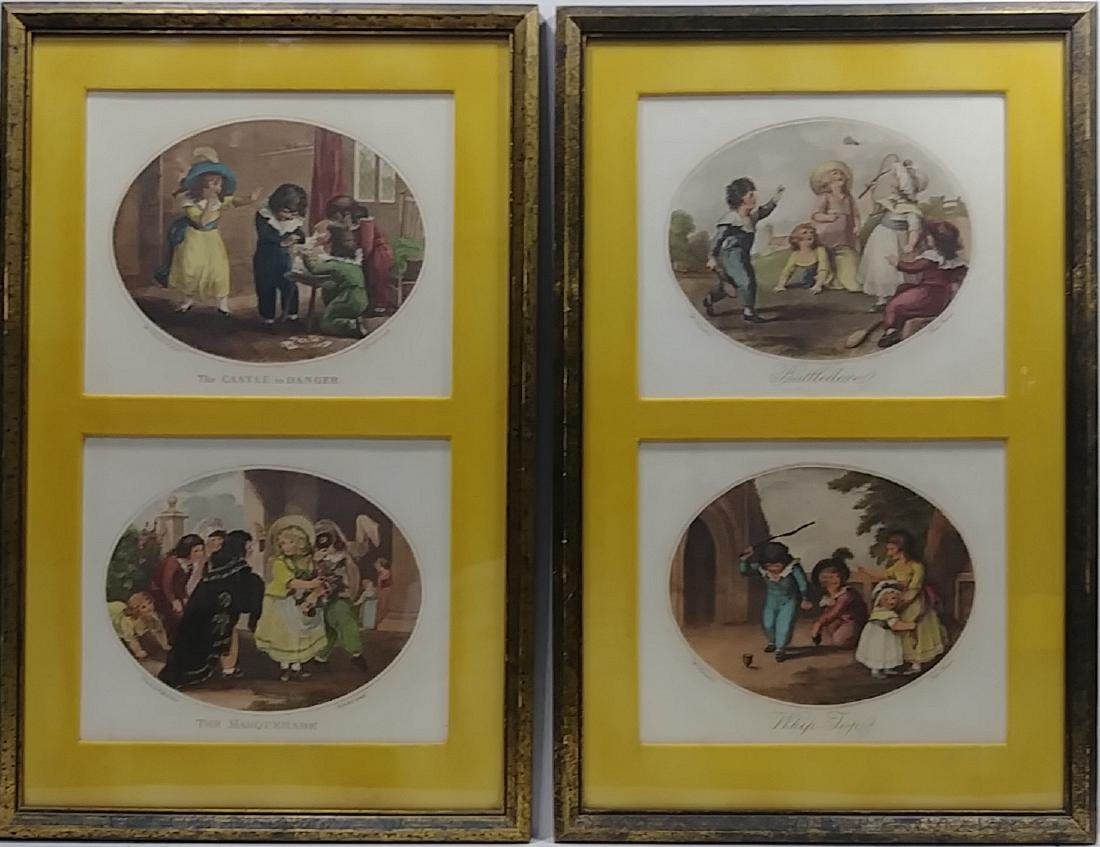Lot of 2 Hand Colored Engraving - 3
