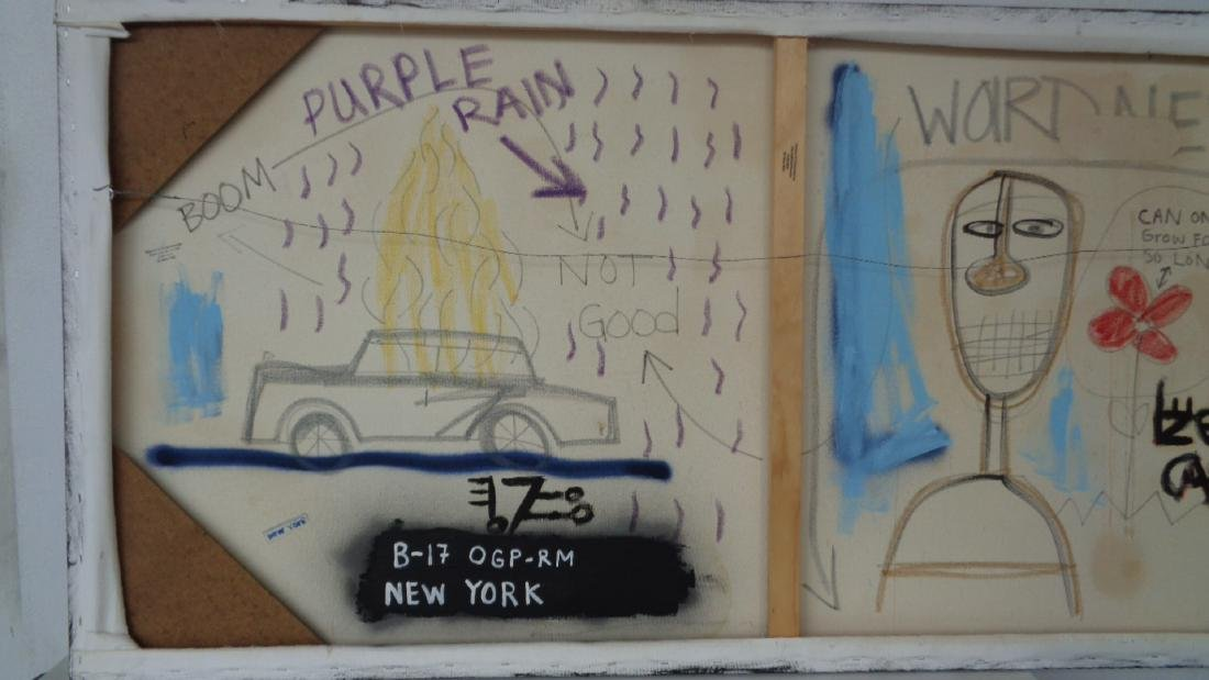 Original Painting on Canvas New York. Signed on Back. - 6