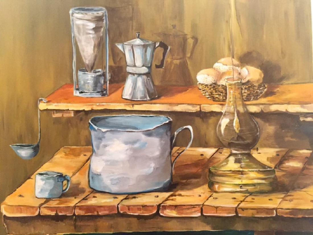 Original Contemporary Latin American Oil Painting - 4