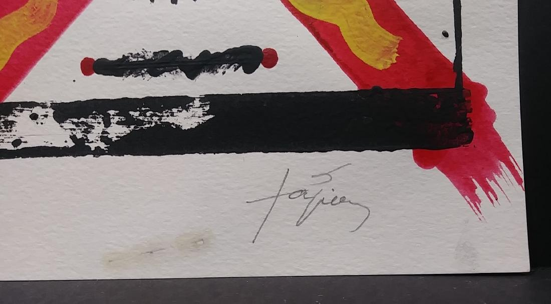 Signed Tapies Abstract Informalism Signed Painting - 2