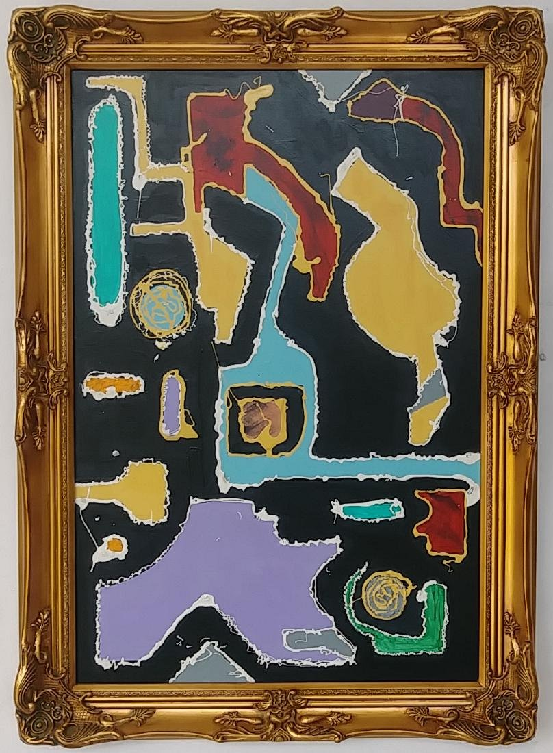 Modern Abstract Contructivismo Expressionism Painting. - 2