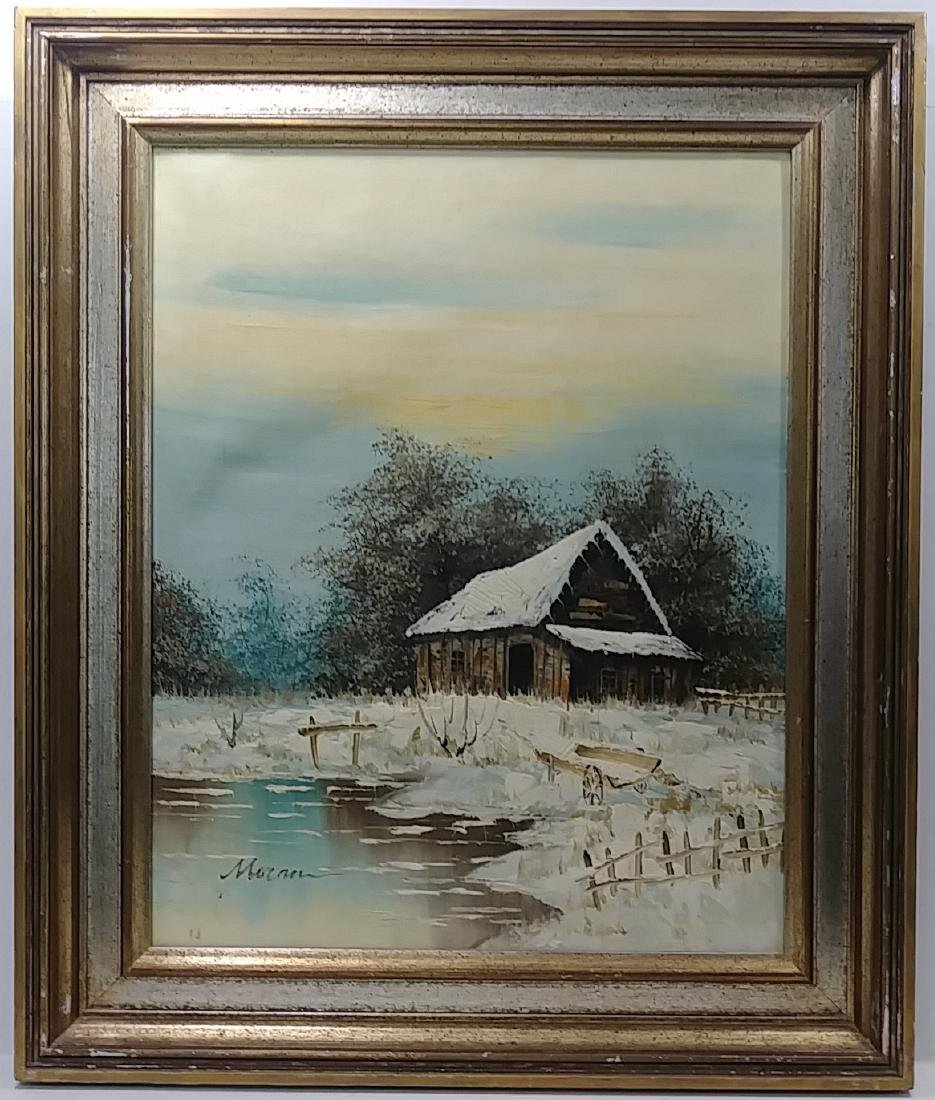 Original Moran Oil  Painting Signed Gallery Stamp