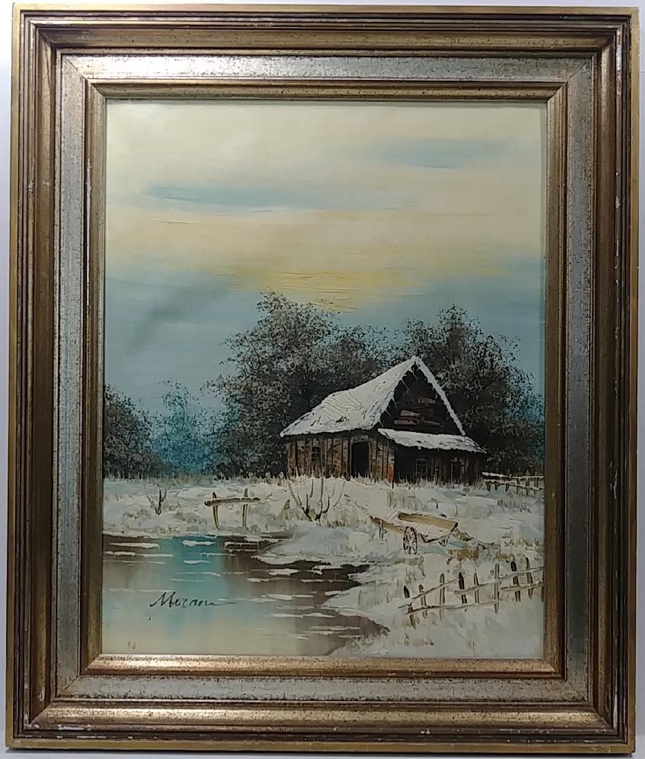 Original Moran Oil  Painting Signed Gallery Stamp - 2