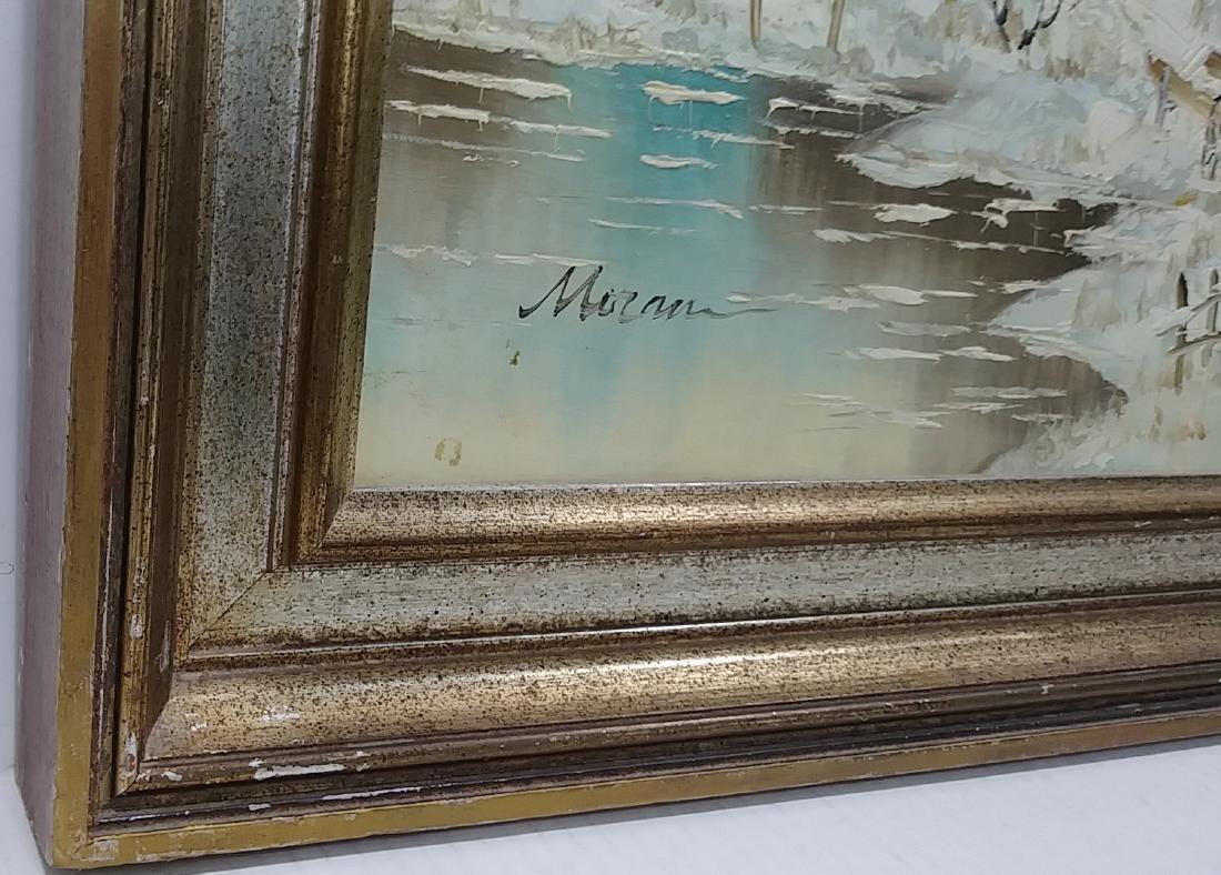 Original Moran Oil  Painting Signed Gallery Stamp - 3