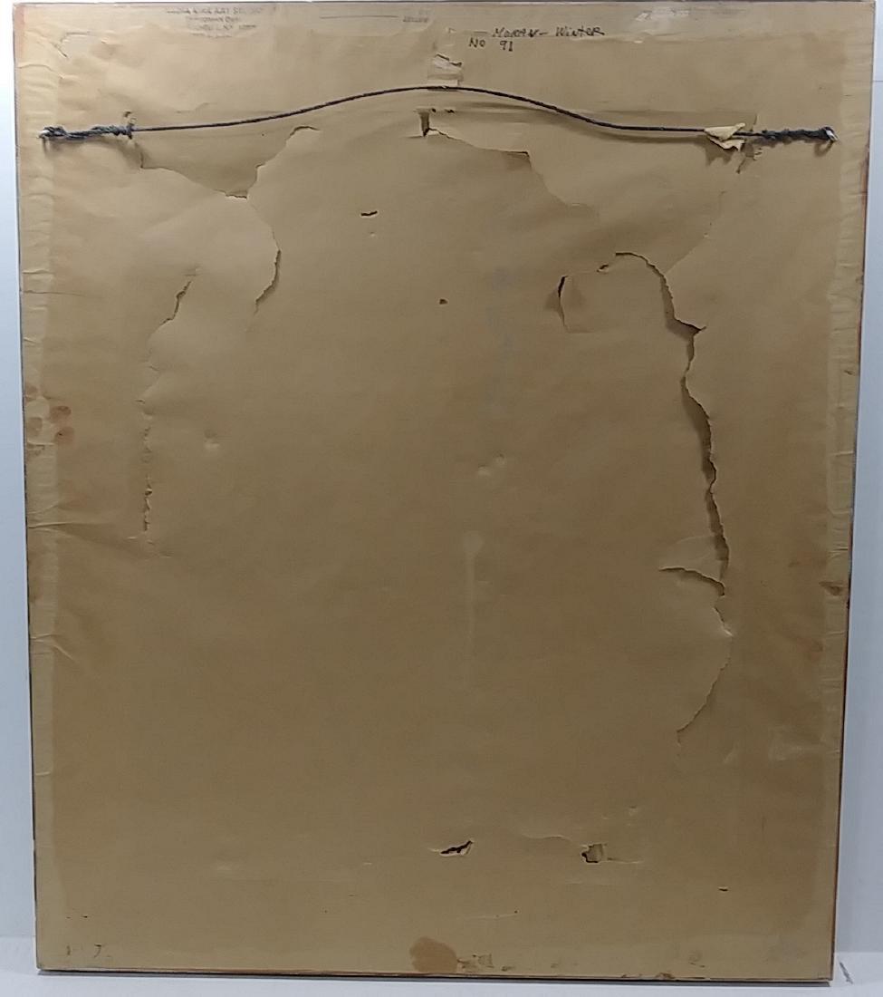 Original Moran Oil  Painting Signed Gallery Stamp - 4