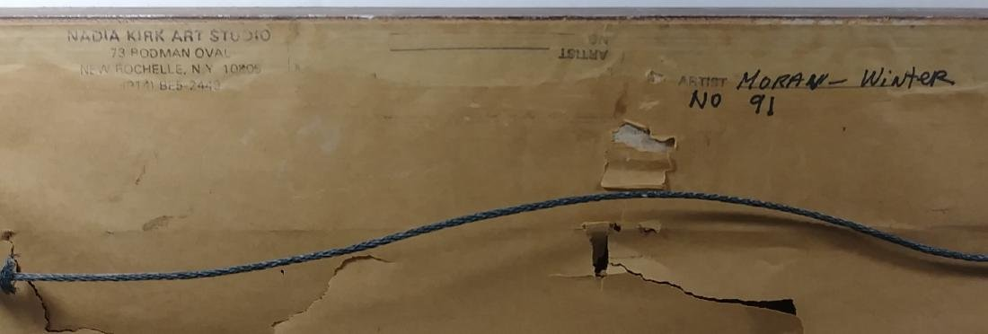 Original Moran Oil  Painting Signed Gallery Stamp - 5