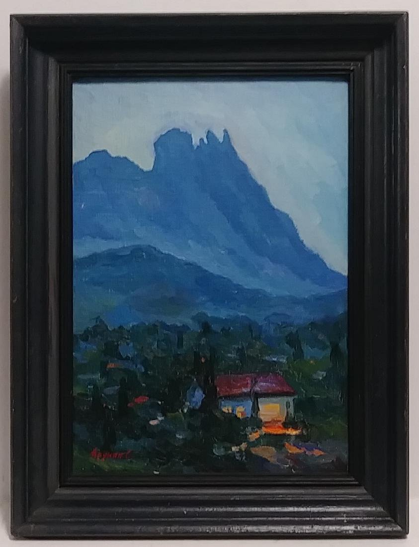 Antique Signed Landscape Oil Painting - 2