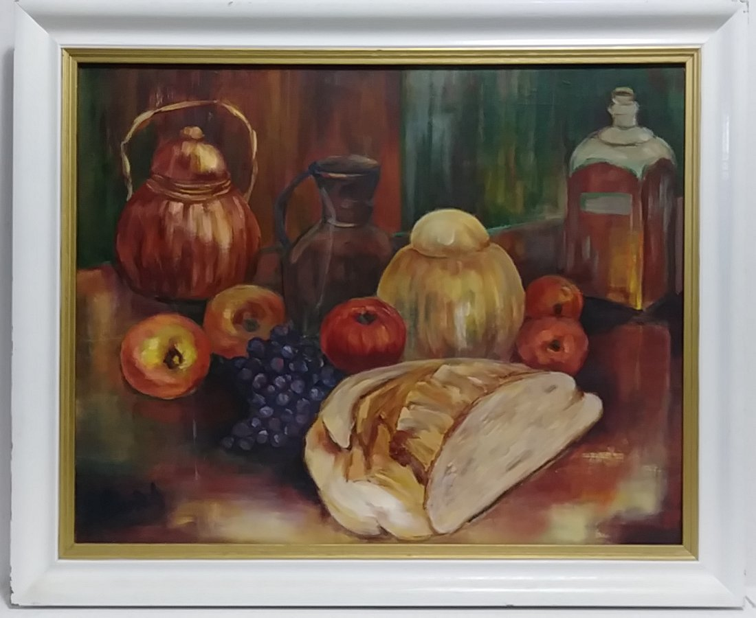 Original Signed Oil Painting Still Life Fruit