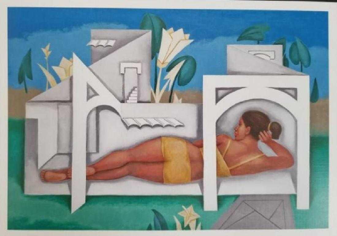 Adigio Benitez Lithograph Print on Paper-En Casas Blanc - 2