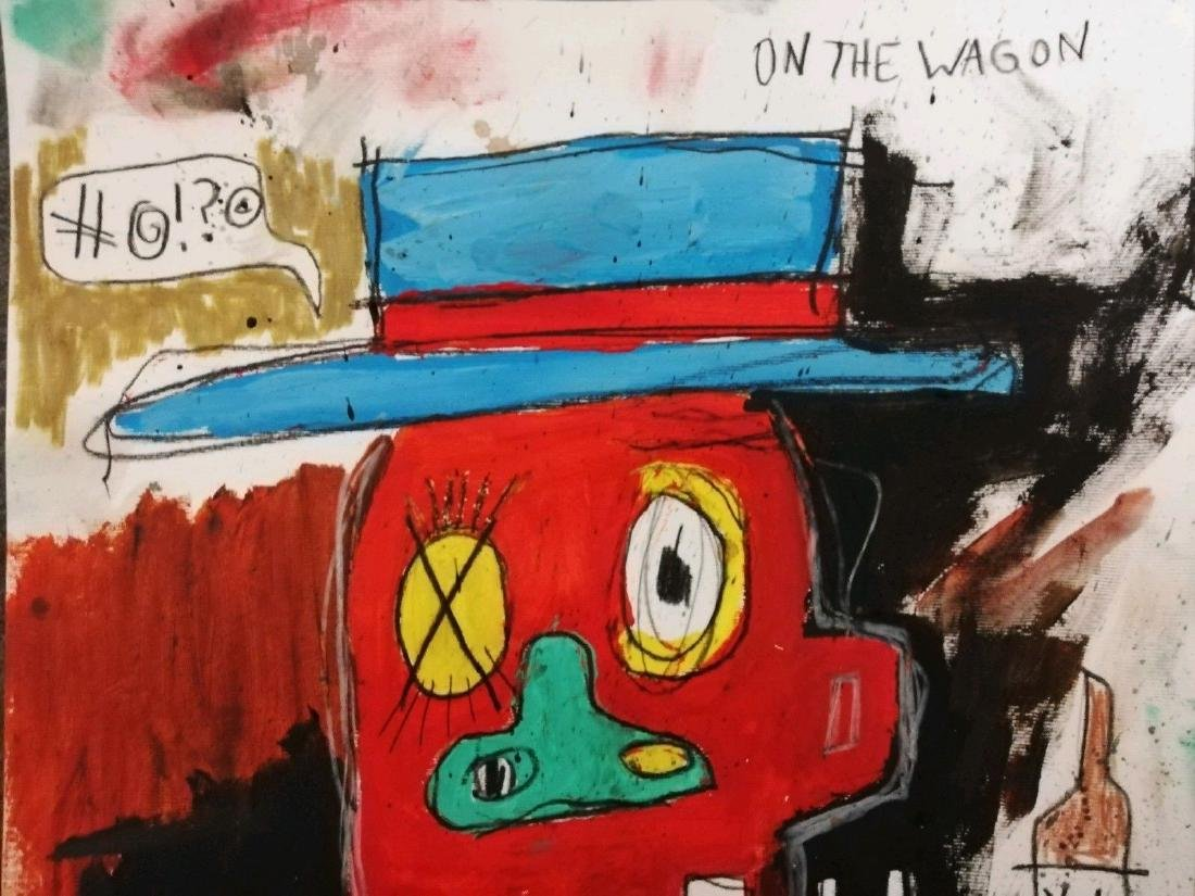 Lucky After Jean-Michel Basquiat- Mixed Media - 2