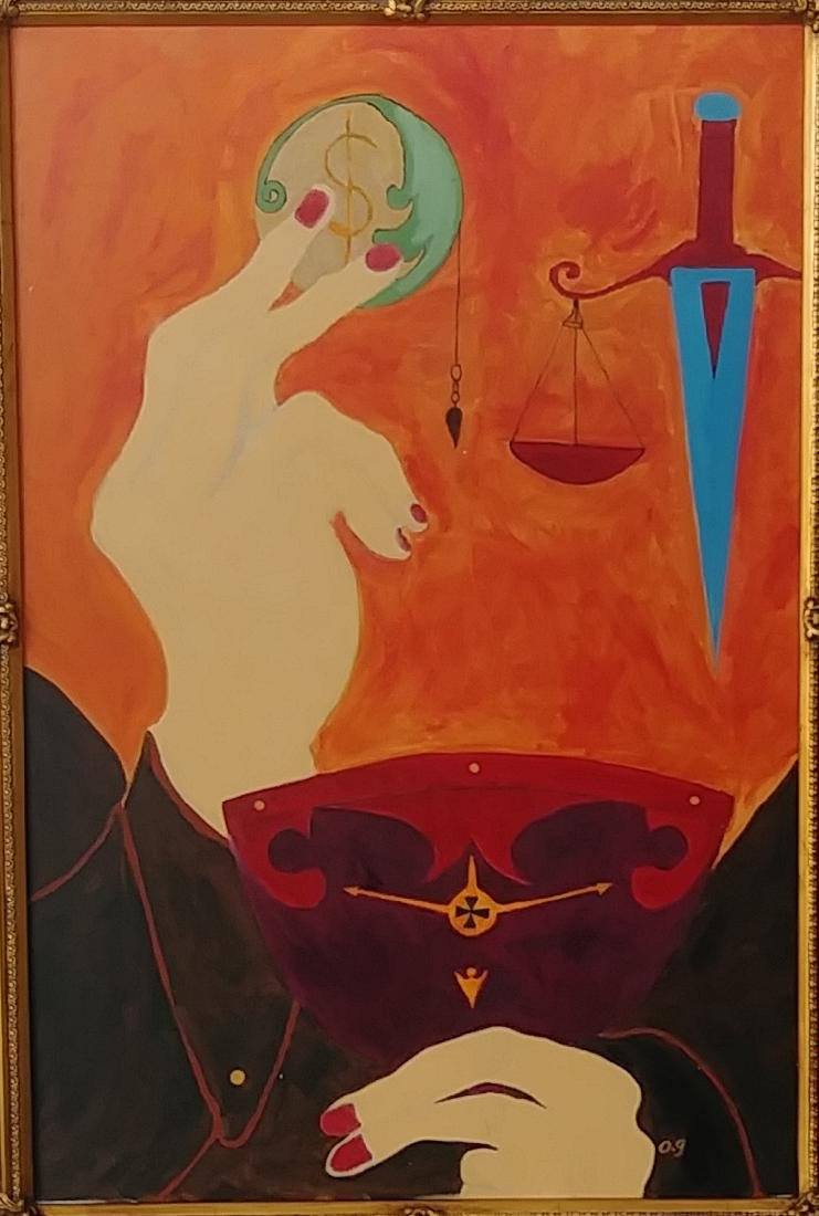 """""""Power and Fall"""" Original Oil Painting on Canvas-Signed - 2"""