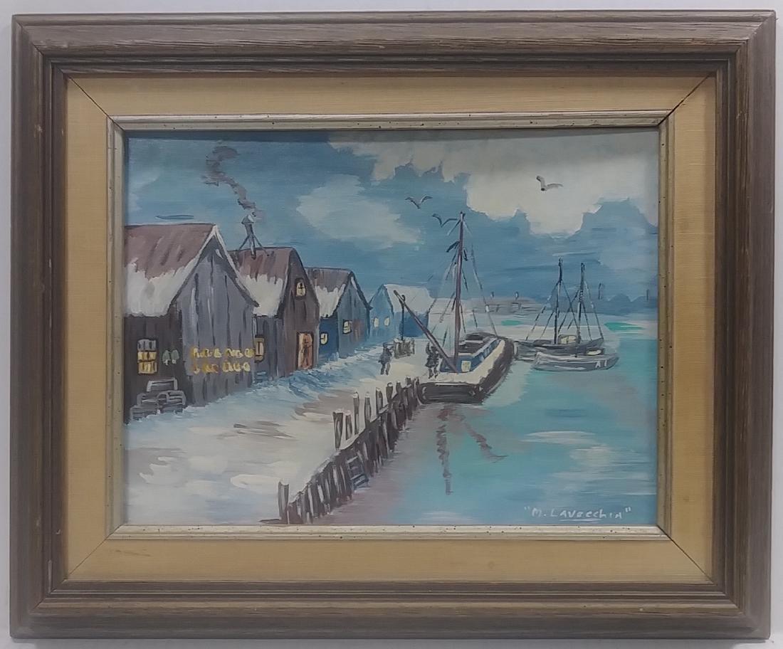Original Oil Painting M. Lavecchia signed. Canvas board
