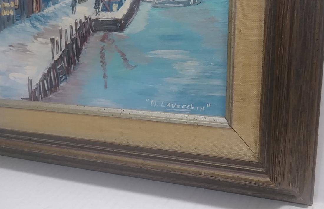Original Oil Painting M. Lavecchia signed. Canvas board - 2