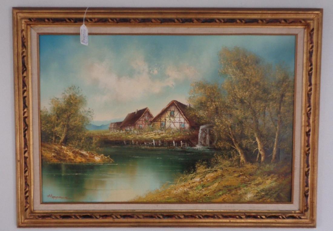 Original Oil Painting on Canvas Signed Hopman
