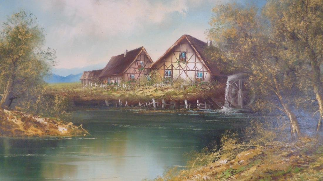 Original Oil Painting on Canvas Signed Hopman - 2