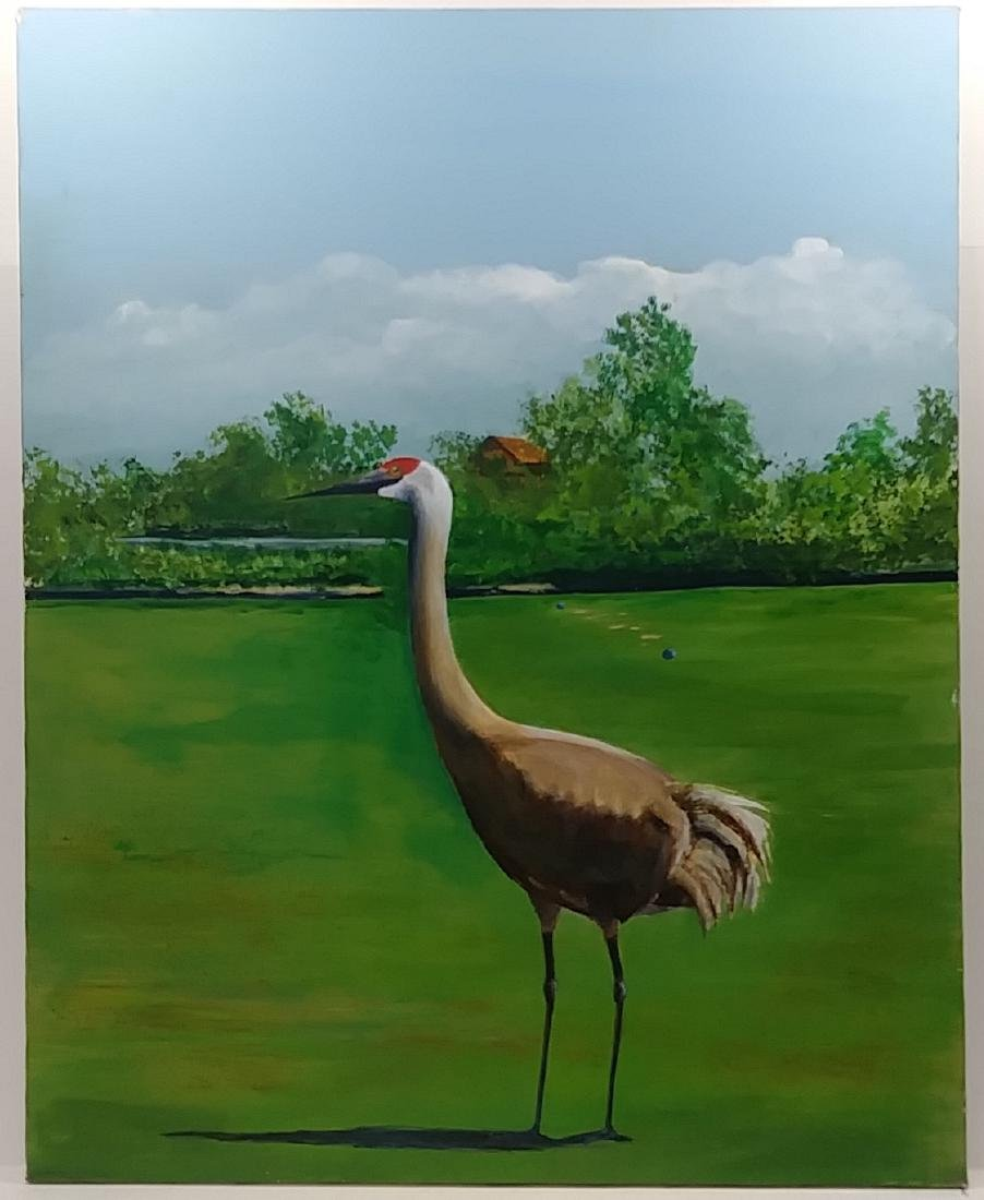 Florida Sandhill  Oil Painting Signed