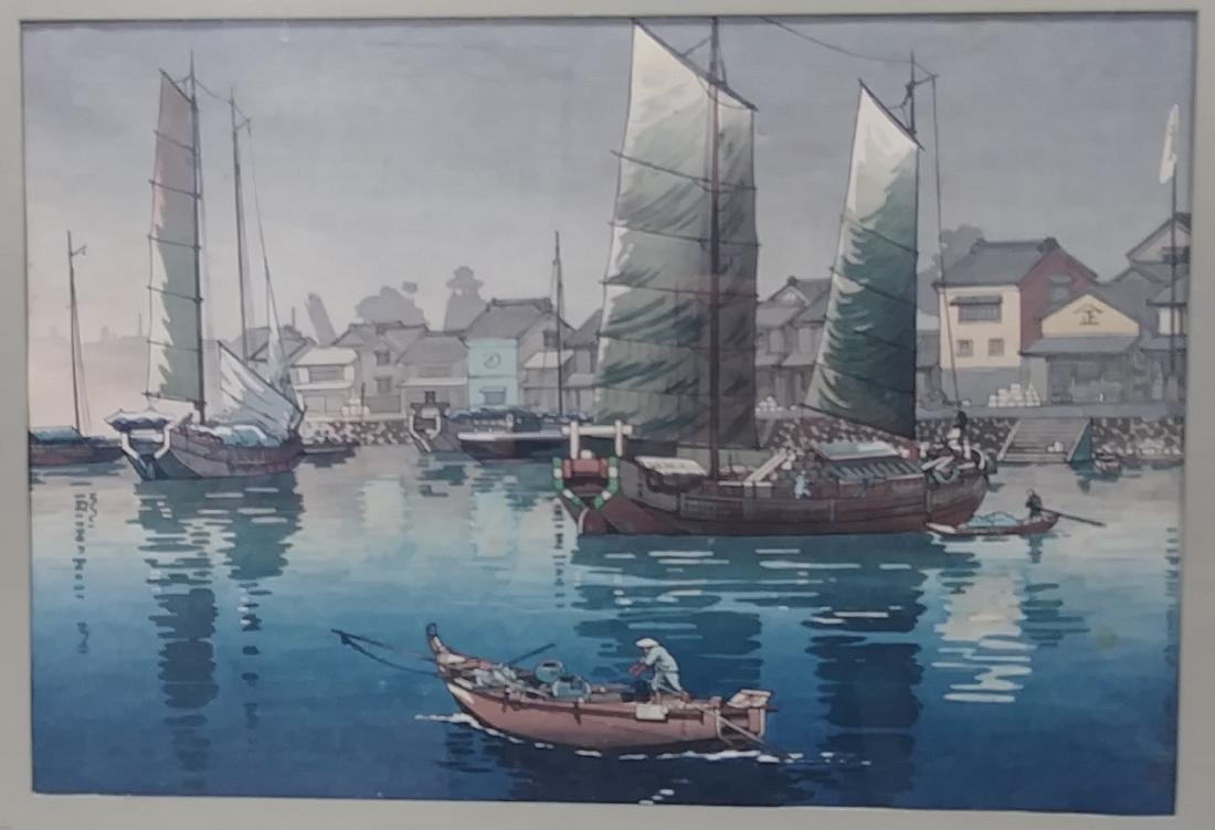 Hand Signed Colored Chinese Engraving - 2