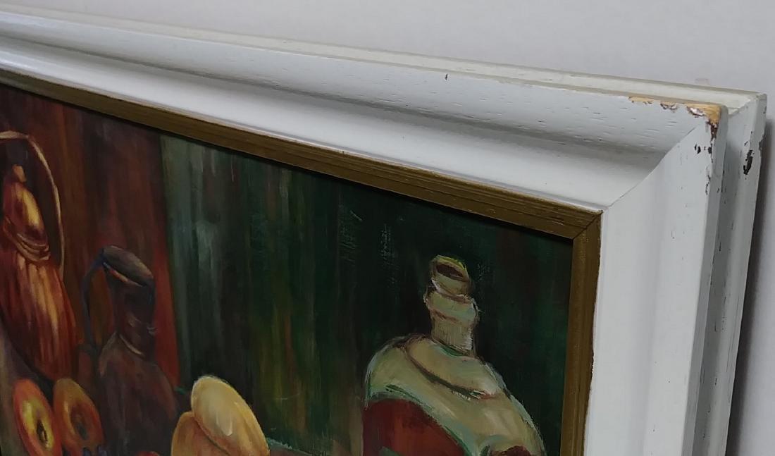Original Signed Oil Painting Still Life Fruit - 3