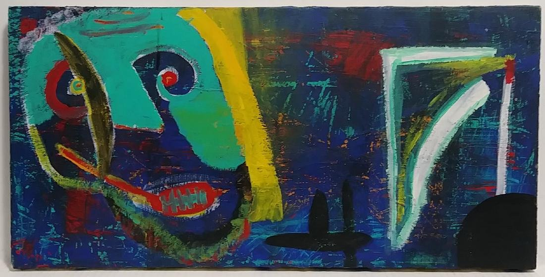 Rare Signed Abstract Expressionism Painting Modernism
