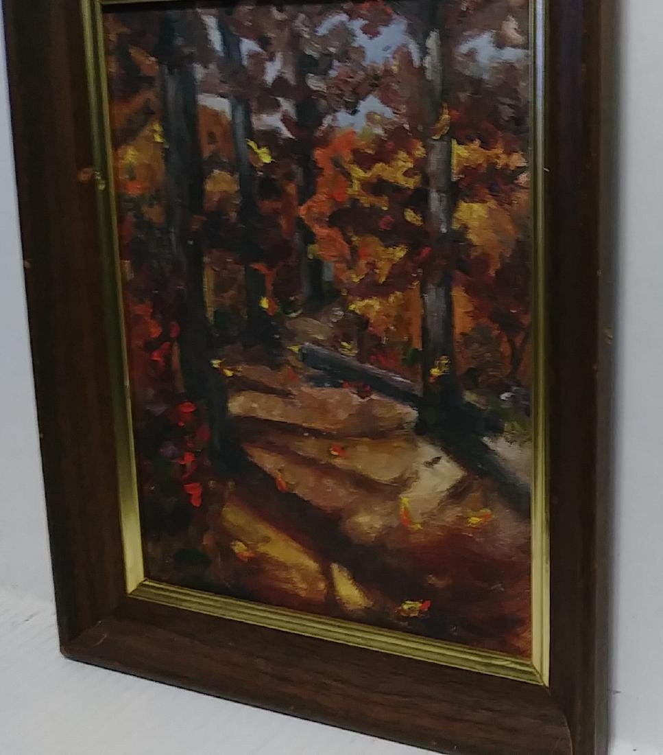 Plain Air Forest Painting Canvas Board - 2