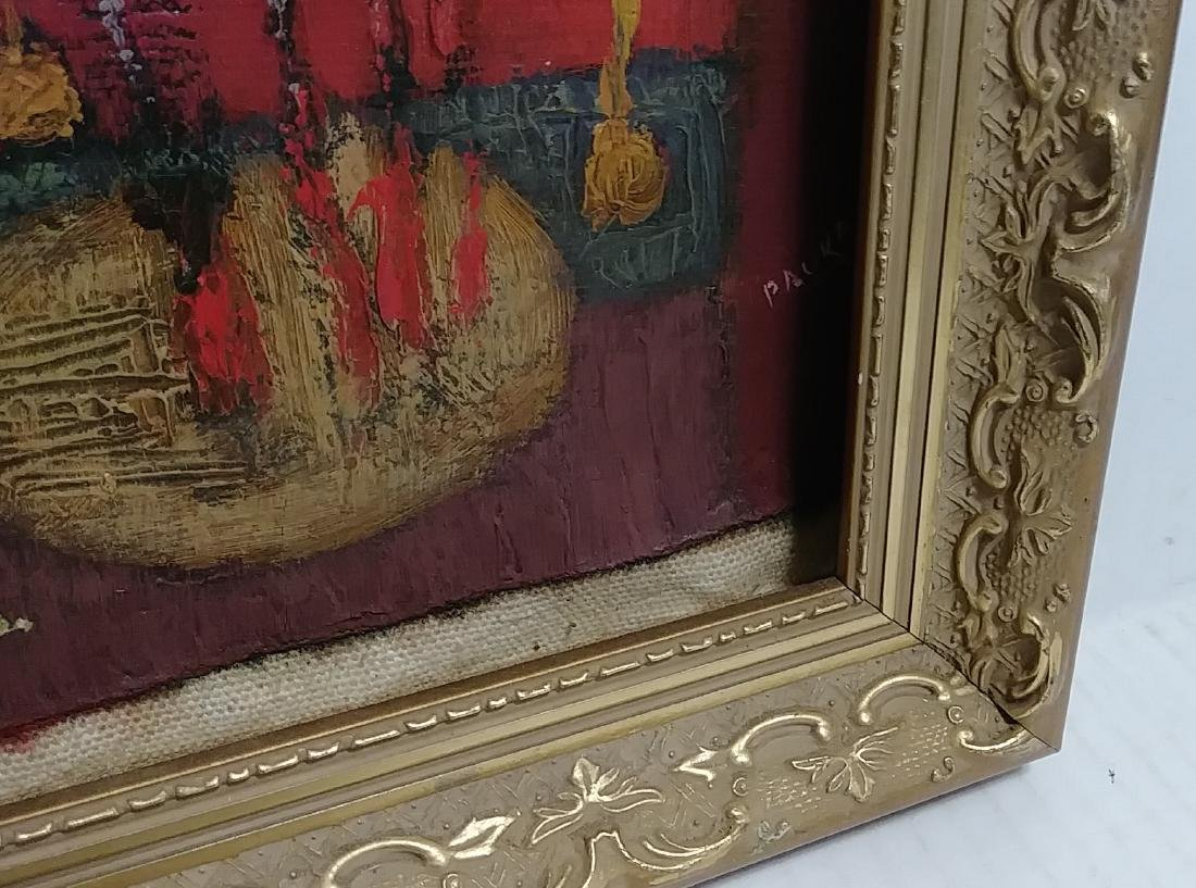 Very Rare Fish Oil Painting Signed - 2