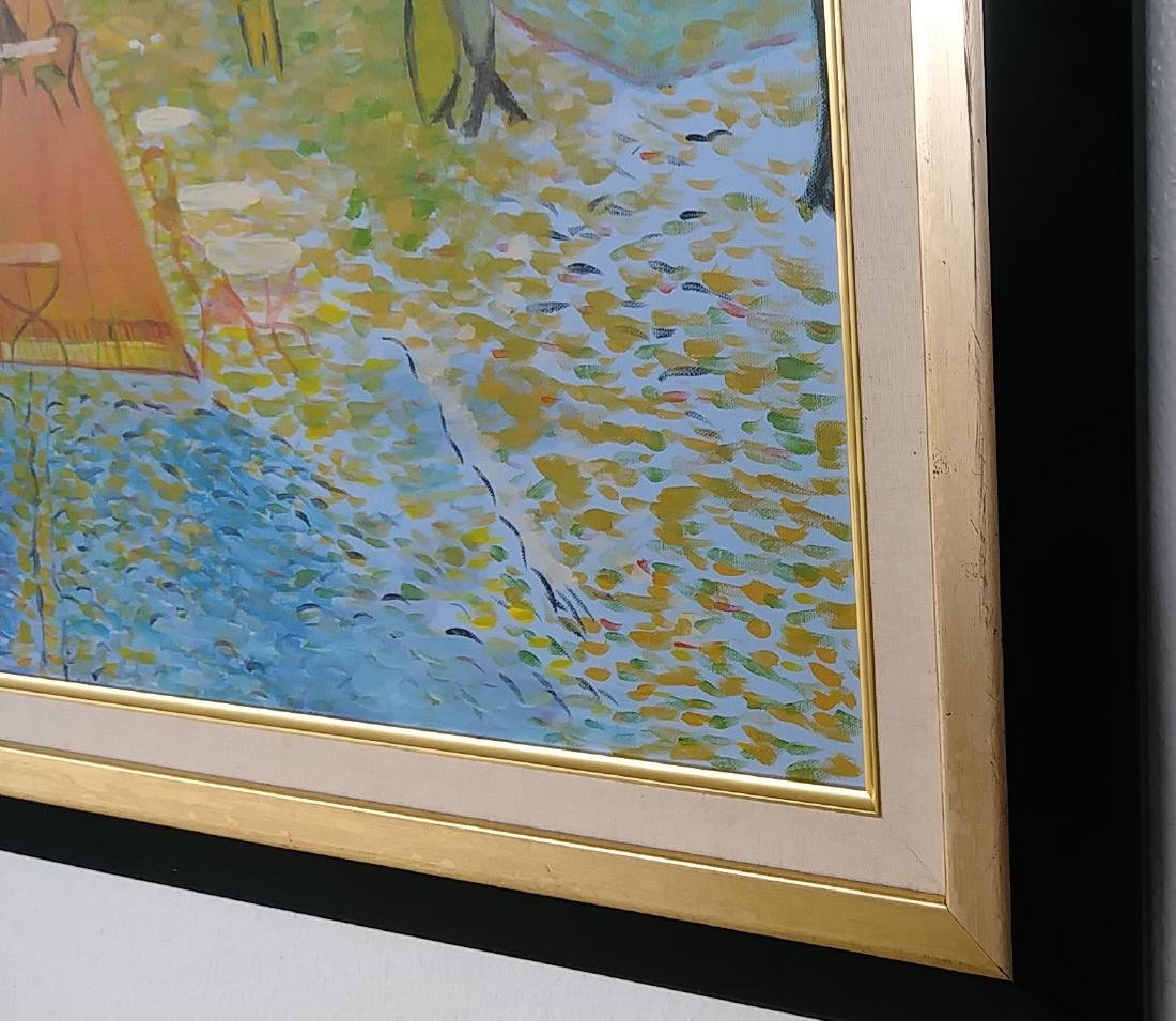 Street Scenes Oil Painting Signed - 3