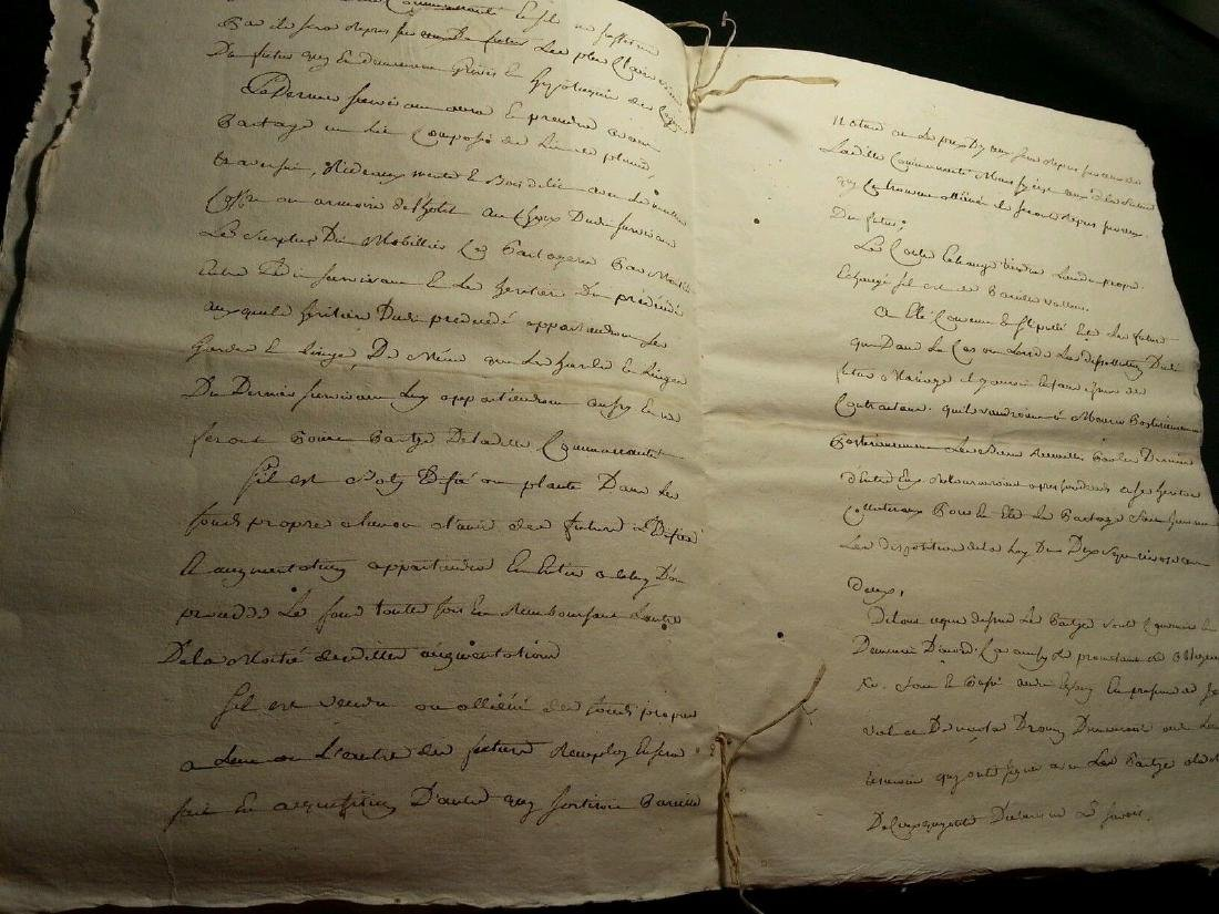 1802 Antique 8 Pages Notary Document Manuscripts - 3