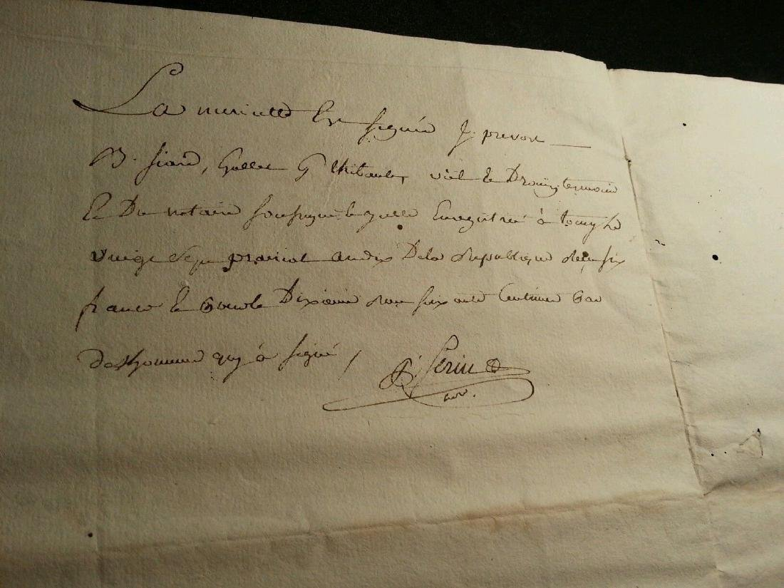 1802 Antique 8 Pages Notary Document Manuscripts - 4