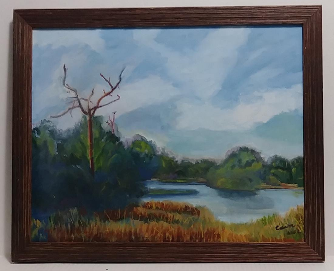 Signed California -Impressionist Oil Painting on Canvas