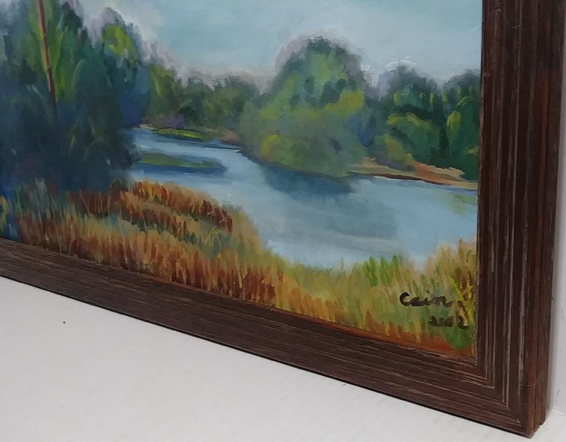 Signed California -Impressionist Oil Painting on Canvas - 2
