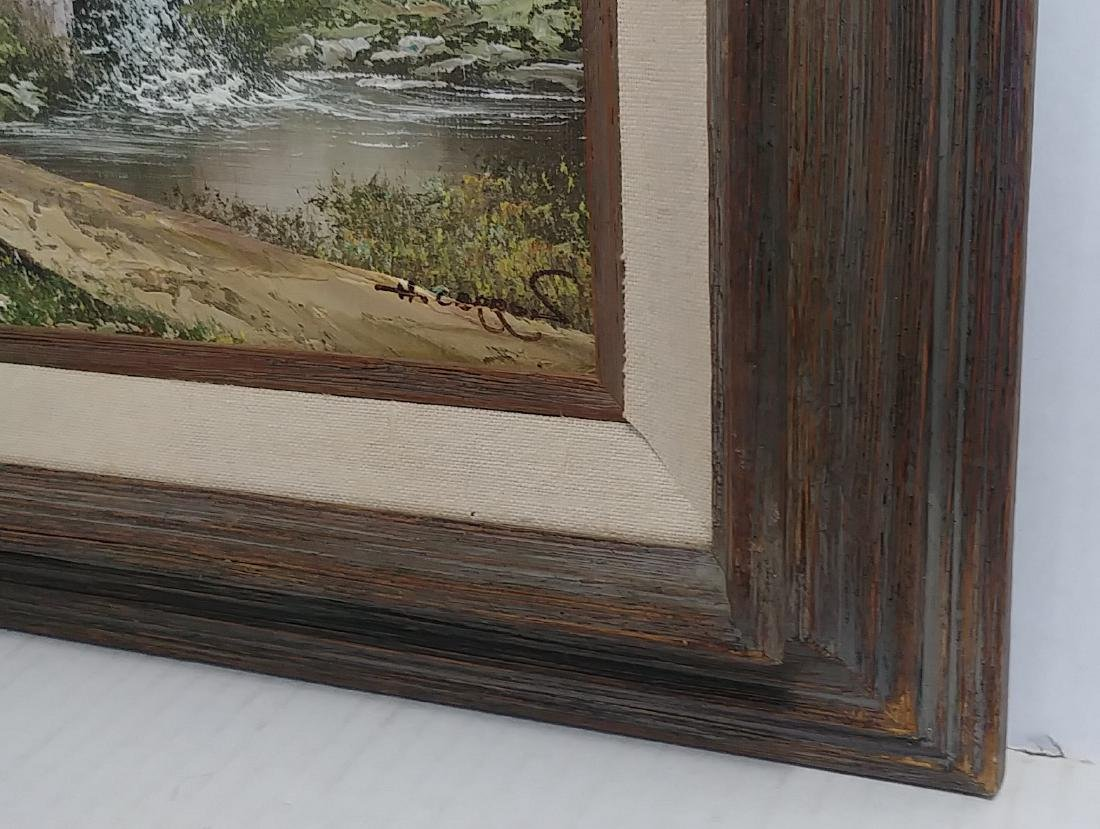 Signed Oil Painting Plein Air Barn landscape - 2