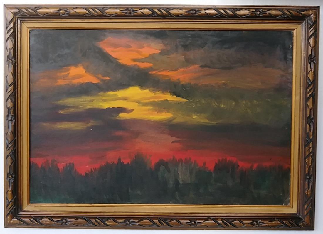 Rare Vintage Landscape Oil Painting Signed