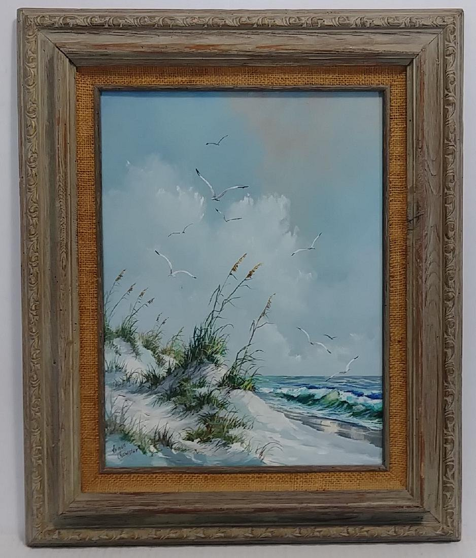 Signed Oil Painting Main Coastal Seascape/Nautical