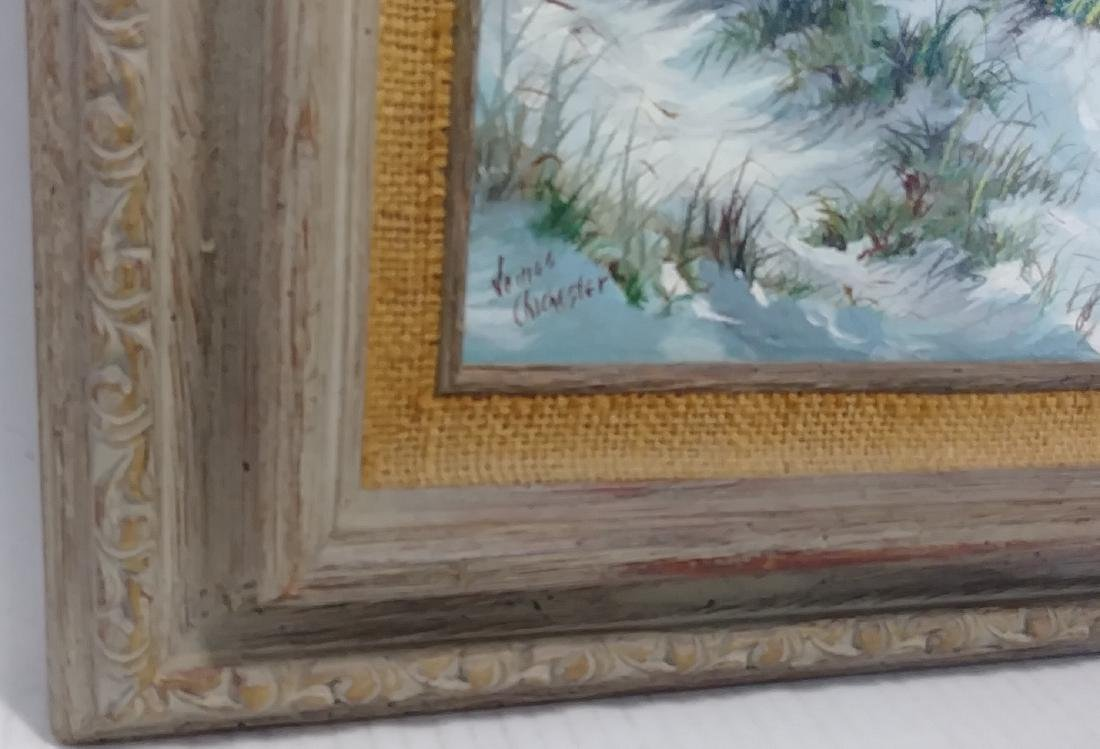Signed Oil Painting Main Coastal Seascape/Nautical - 2