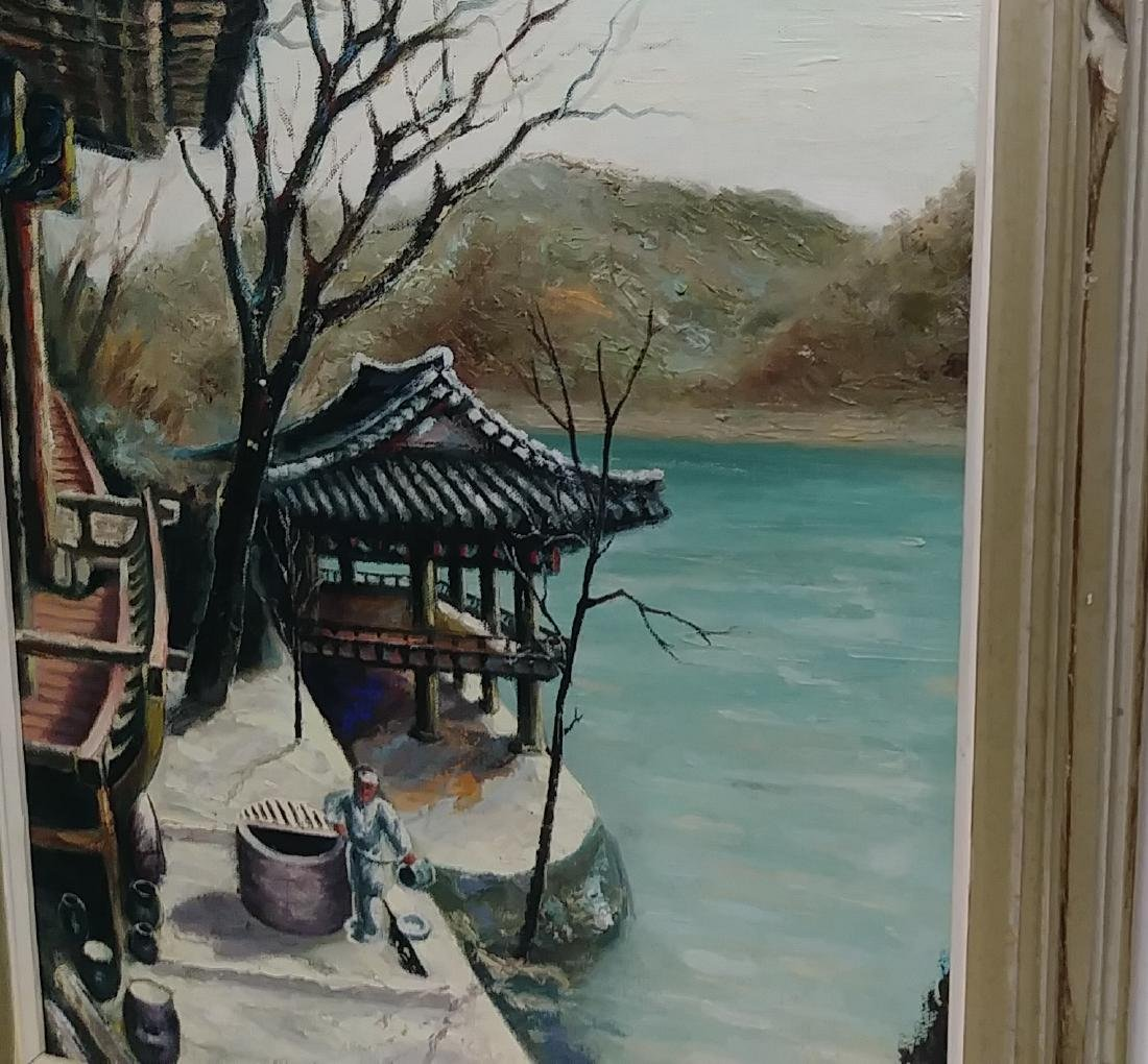 Vintage Cho (Jap) Oil Painting Canvas Signed - 3