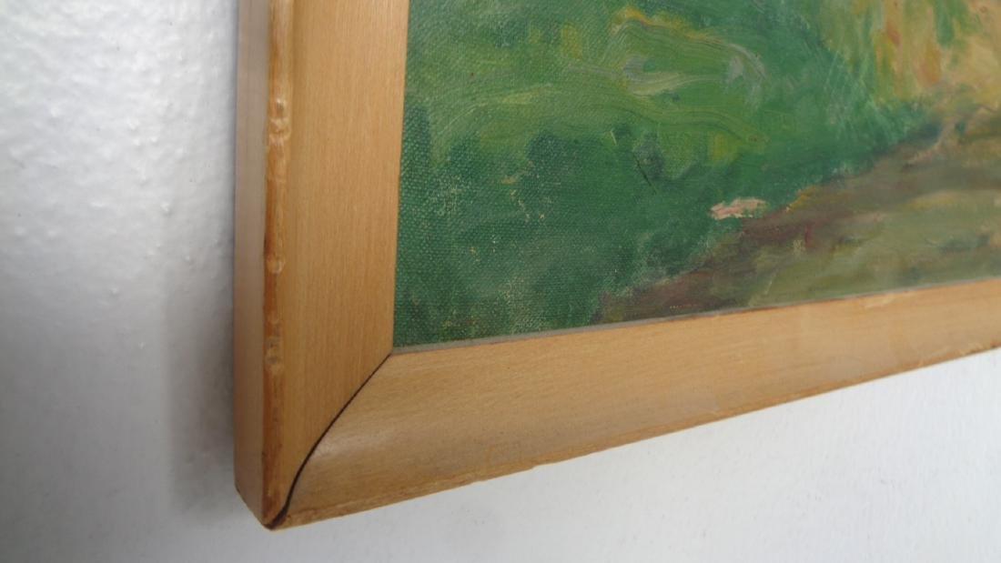 Vintage American Impressionism Oil Painting on Canvas B - 3