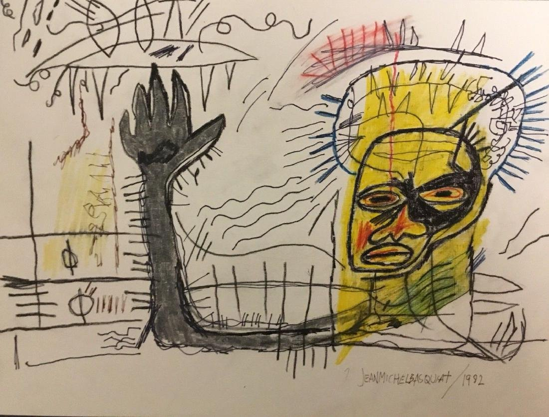 Hand After Jean-Michel Basquiat- Mixed Media
