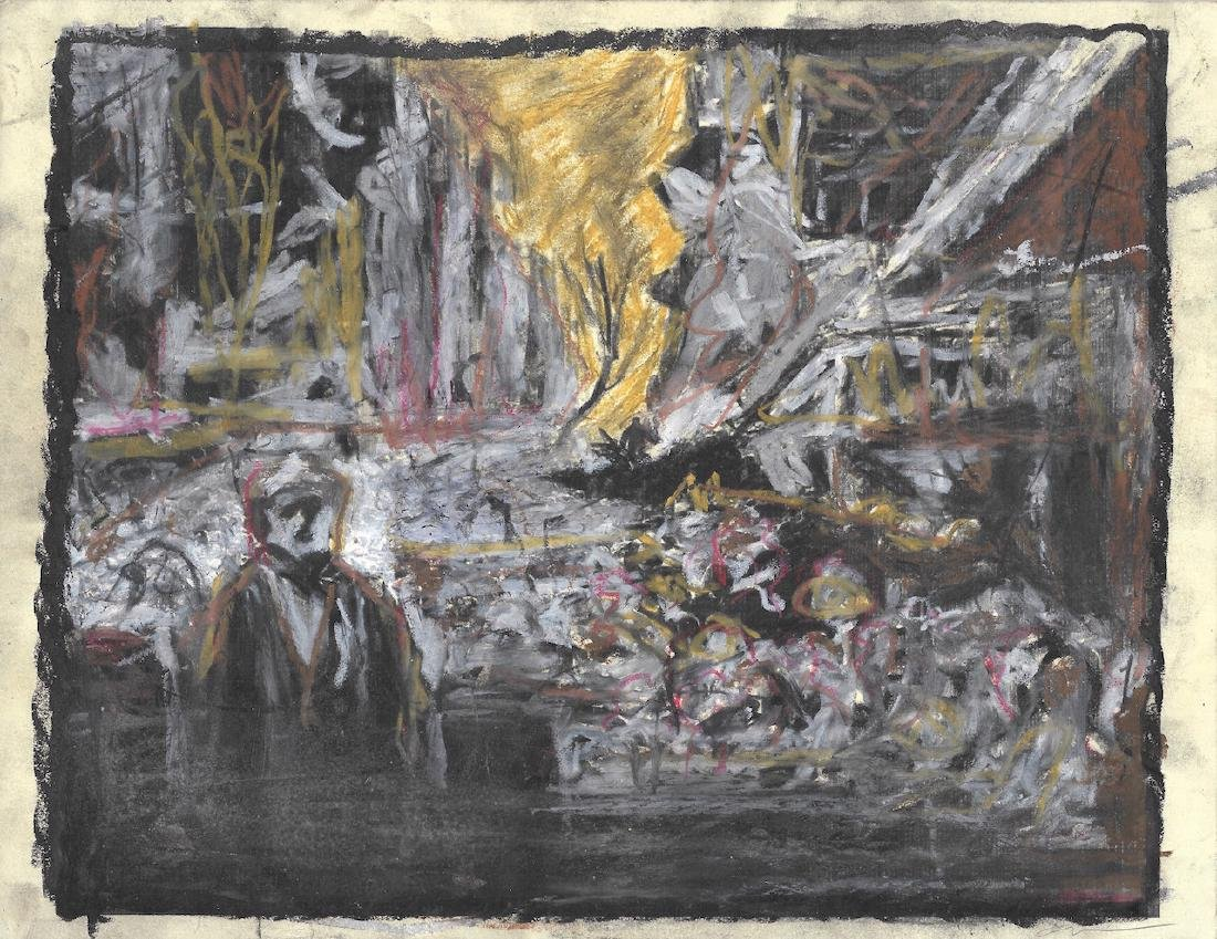 Rare Vintage German Abstract Expressionist Painting