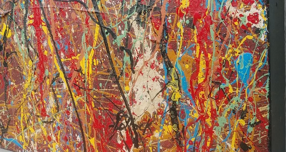 Jackson Pollock After Abstract Painting on Canvas - 4