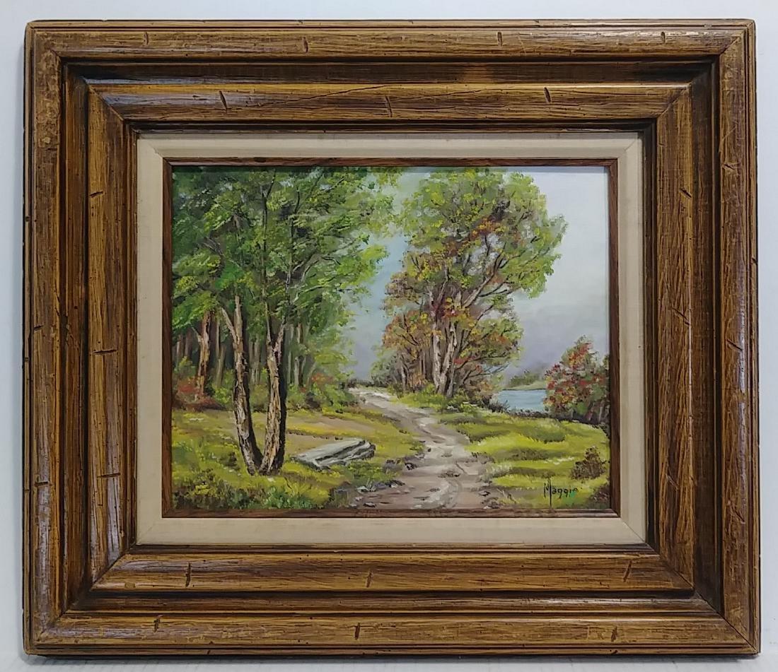 1965 Signed California Plain Air Oil Painting Landscape