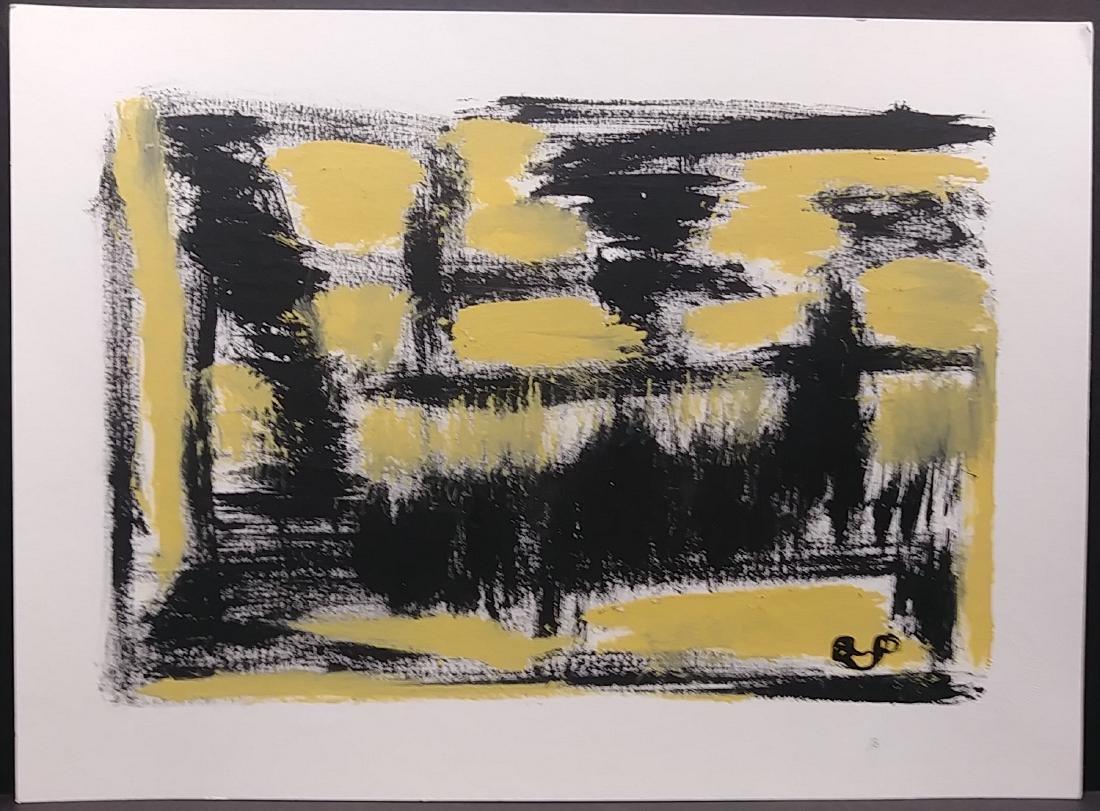 Original New York Exhibit Original Abstract Modern Pain