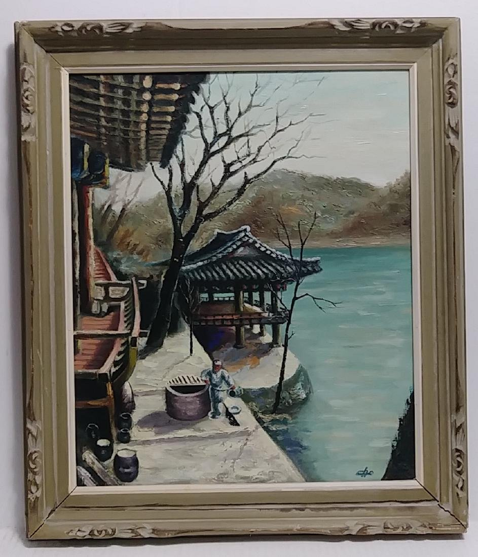 Vintage Cho (Jap) Oil Painting Canvas Signed