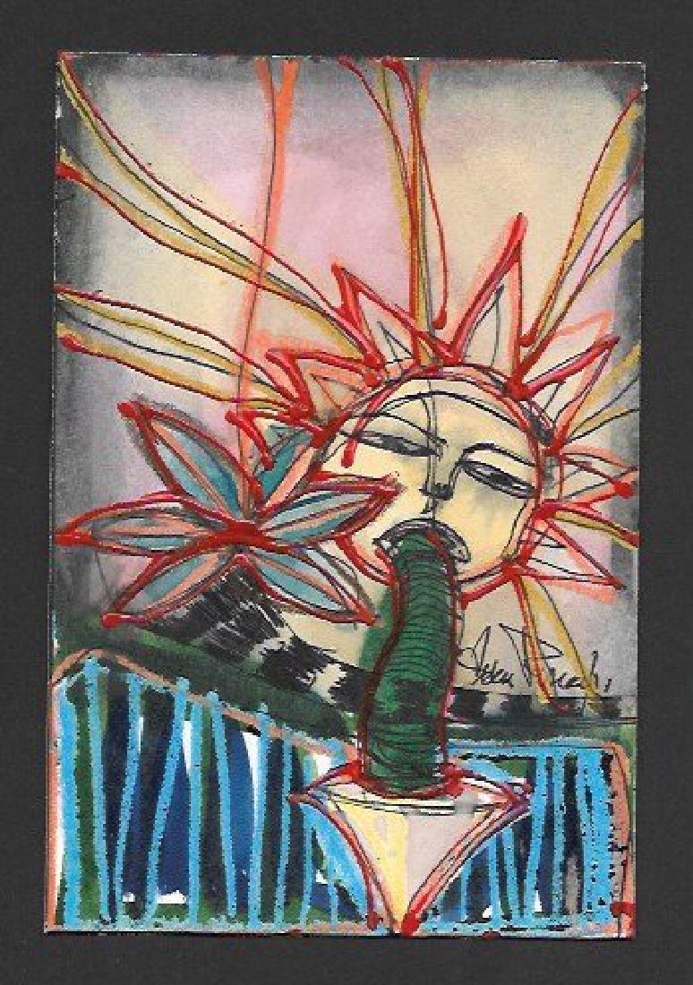 J Rivera Original Modern New York Painting 2011 Signed