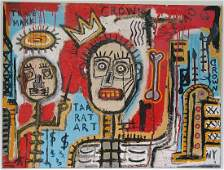 Jean Michel-Basquiat After Signed (American,1960-1988):