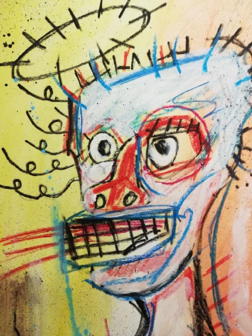 Head After Jean-Michel Basquiat- Mixed Media