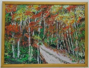Abstract Forest Landscaped Oil Painting