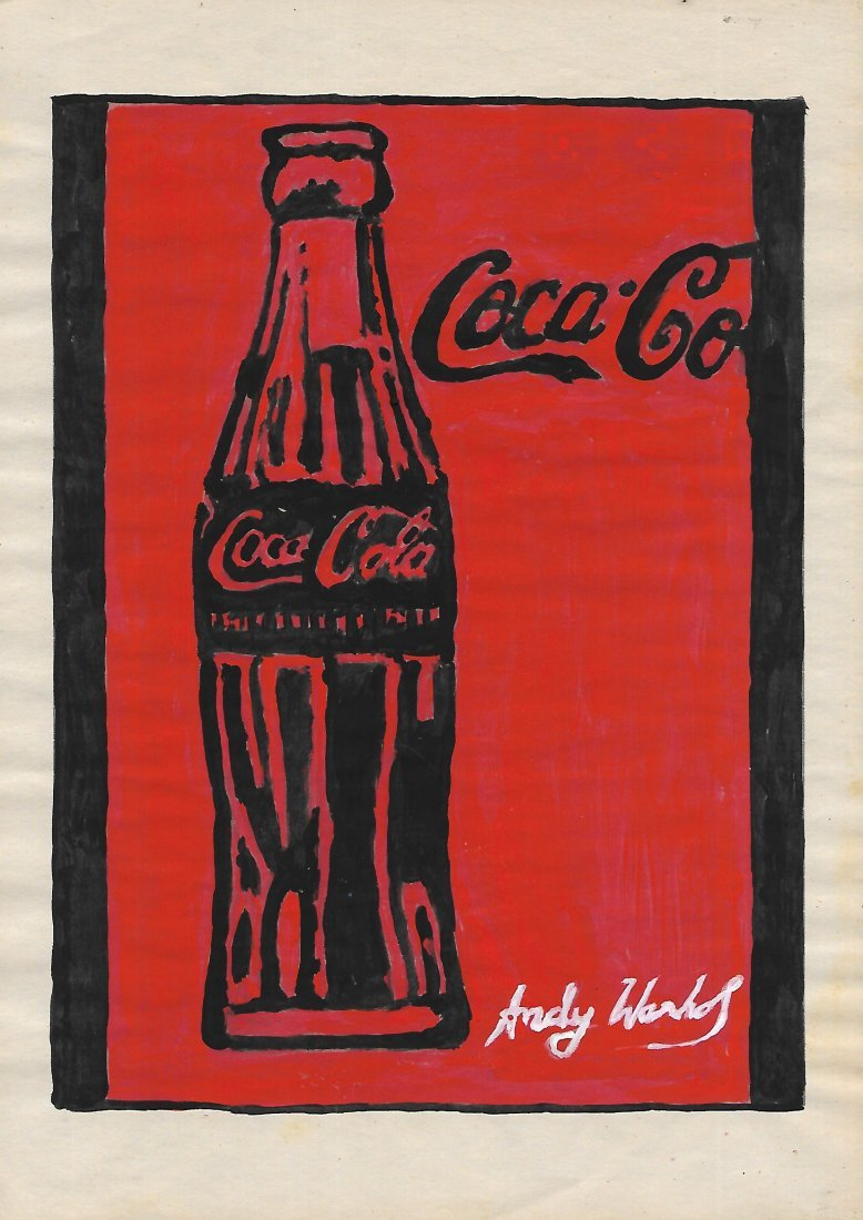 Signed Andy Warhol Mixed Media on Paper.