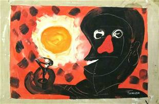 SIGNED RUFINO EXPRESIONISM OIL PAINTING ON CANVAS